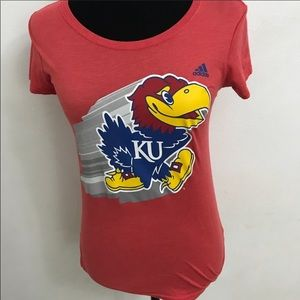 Women's Small Adidas KU Jayhawks shirt like new